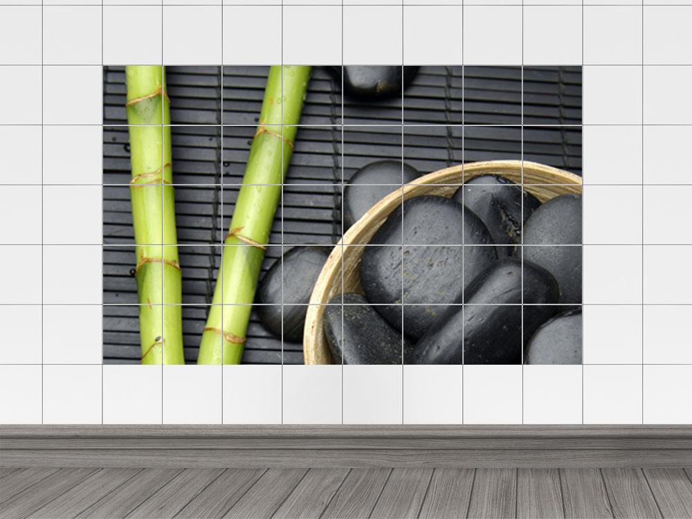 Fliesenaufkleber Fliesen Bad Kuche Fliesensticker Bambus