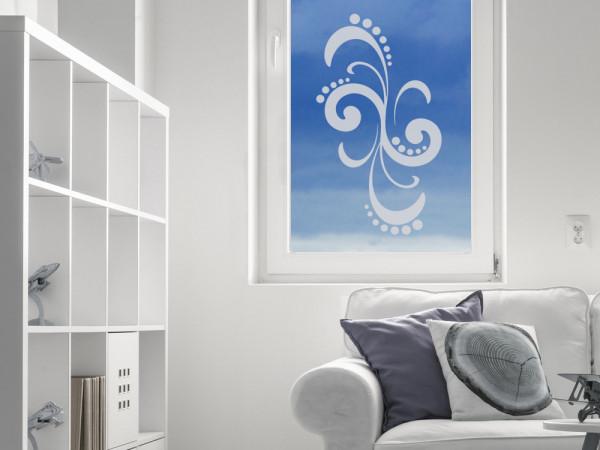 Glastattoo Wohnzimmer Ornament