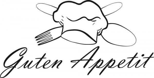 Wandtattoo Küche Schriftzug Guten Appetit mit schicker Kochmütze