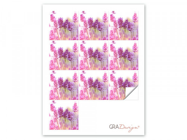 Fliesenaufkleber Set Lavendel Blume rosa Feld