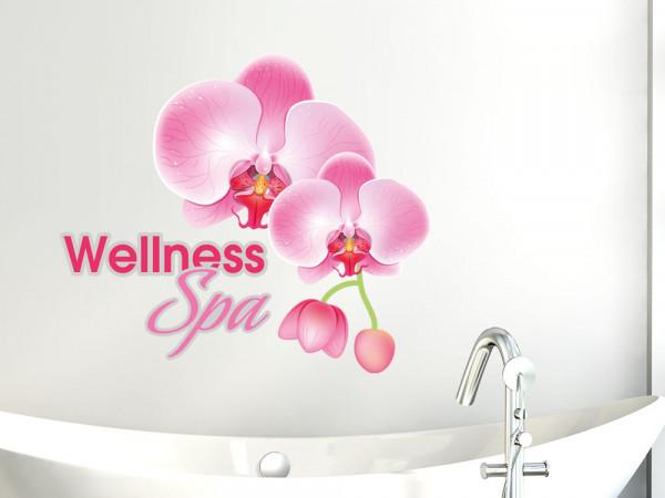 Wandsticker Wandtattoo Badezimmer Wellness Spa Orchideen