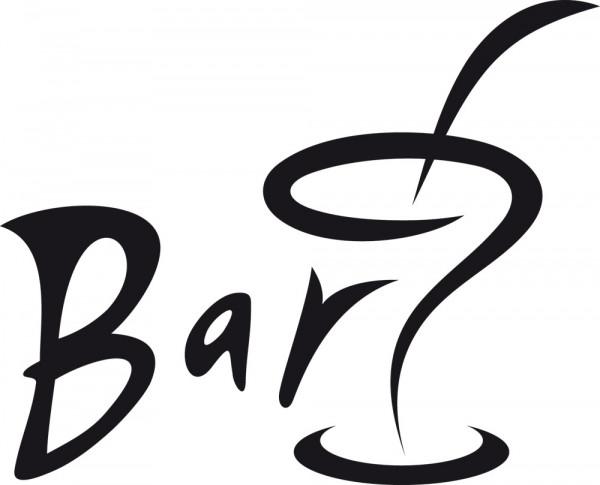 Wandtattoo Küche Schwungvoll gestalteter Schriftzug Bar