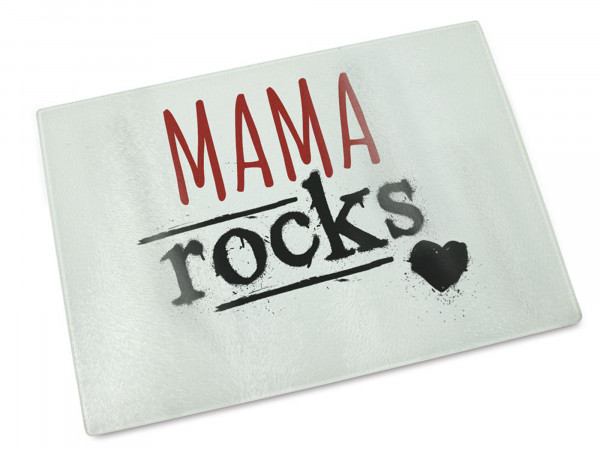 Glas-Schneidebrett Mama Rocks