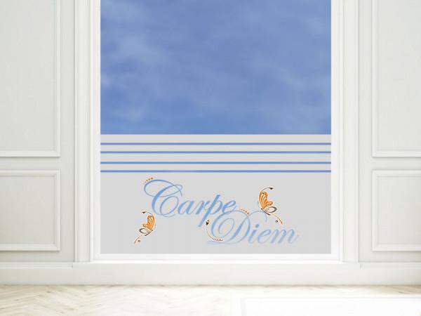 Sichtschutzfolie Spruch Carpe Diem