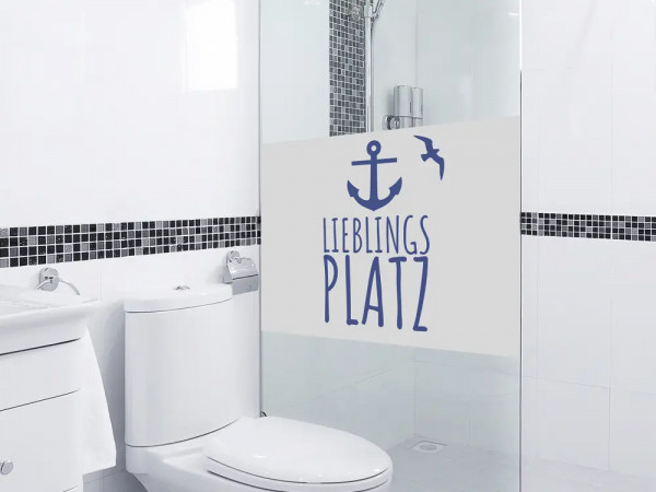 Fensterfolie Bad Anker Lieblingsplatz maritim