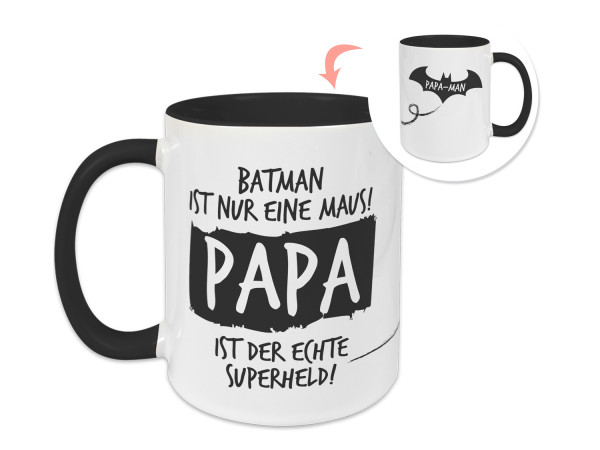Tasse Vatertag, Geschenkidee Papa ist mein Held