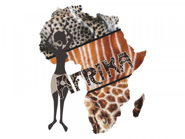Wandsticker afrikanische Welt für Wohnzimmer Afrika