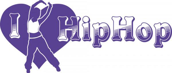 Wandtattoo Musik I love Hip Hop Ich liebe Hip Hop Herz und Tänzerin