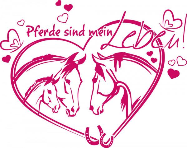 Wandtattoo für Mädchenzimmer Spruch Pferde sind mein Leben