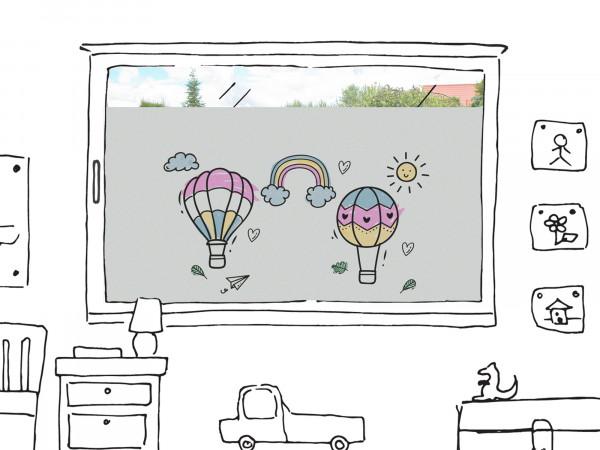 Fensterfolie Heißluftballons für Kinderzimmer