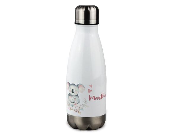 Trinkflasche personalisiert mit Namen und Koala Bär