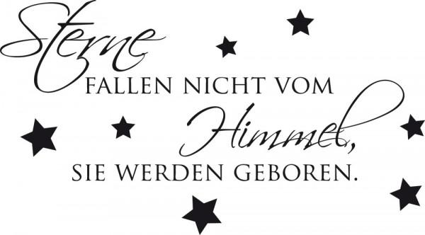 Wandtattoo Wandspruch Sterne fallen nicht vom Himmel...
