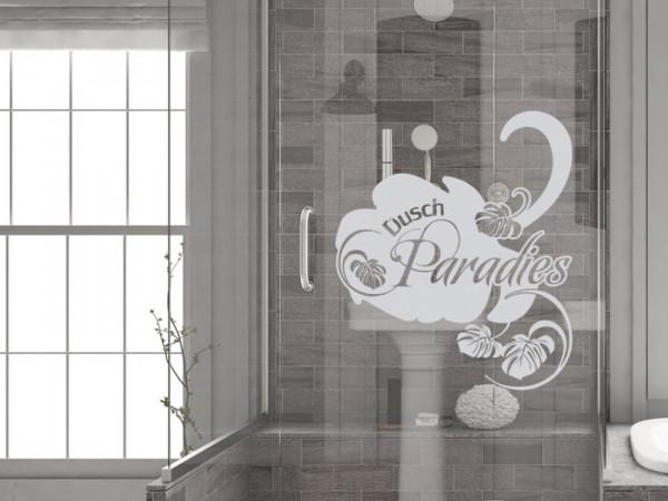 Fensterfolie Duschkabine für Badezimmer Dusch Paradies