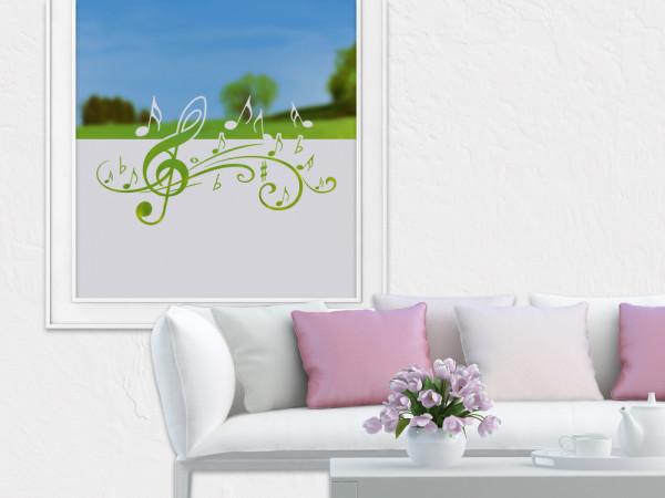 Sichtschutzfolie Musik Notenschlüssel