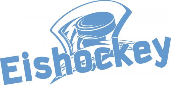 Wandtattoo Sport Eishockey mit Scheibe Sport