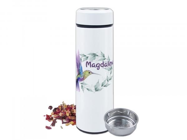 Teeflasche Kolibri - personalisiert mit Namen