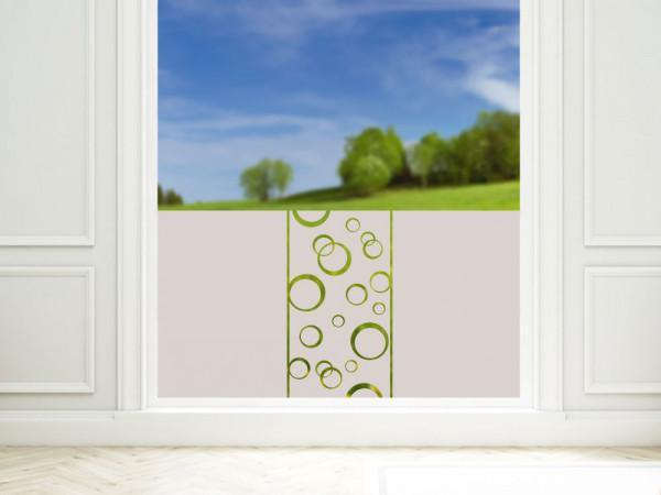 Sichtschutzfolie mit Kreisen, für Badezimmer Duschkabine