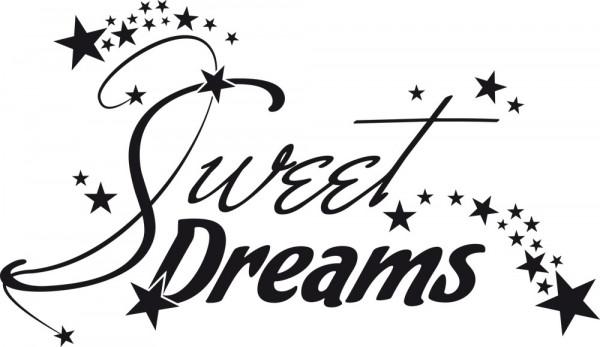 Wandtattoo für Schlafzimmer Deko Wandtatoo Aufkleber Sprüche Sweet Dreams