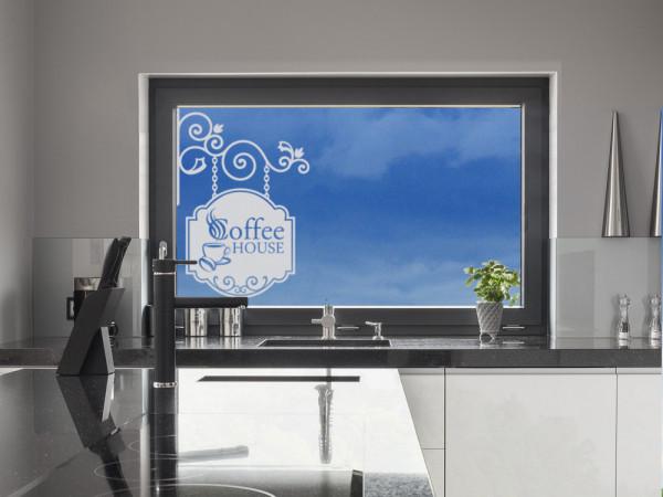 Fenstertattoo Küche Coffee House Ornament