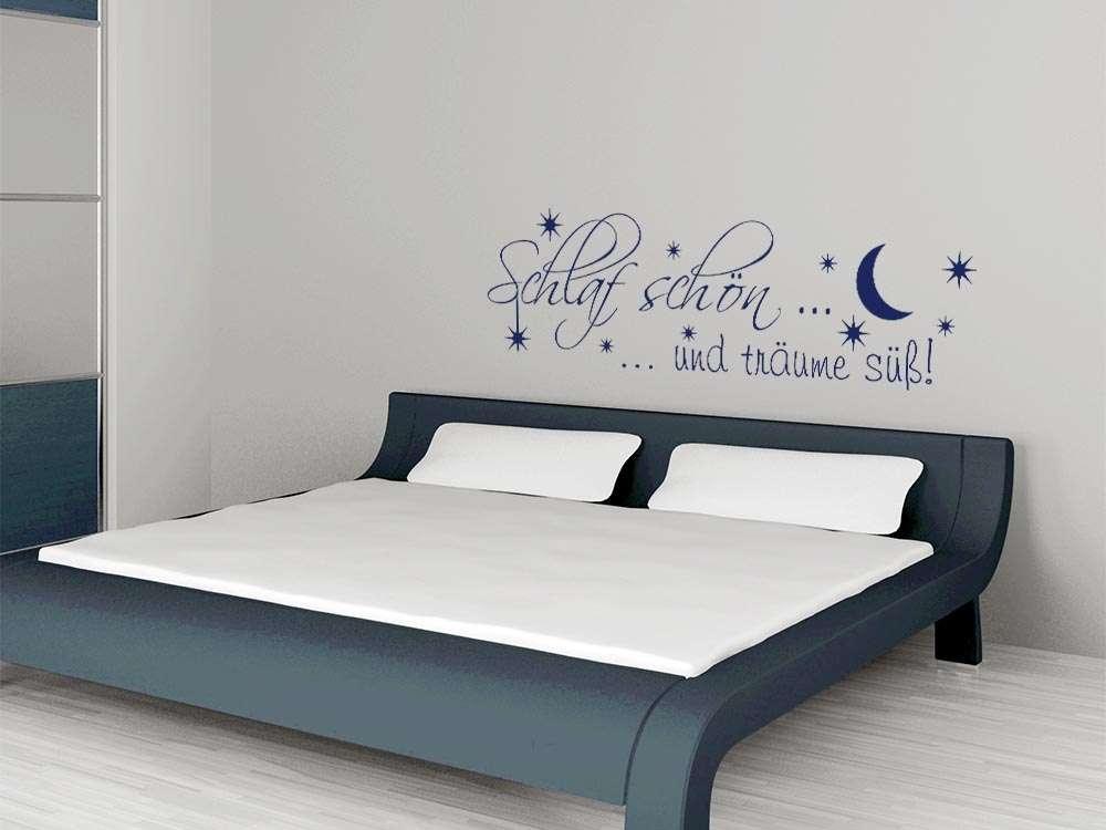 Wandtattoo Schlaf Schön Und Träume Süß! Mit Mond Und Sternen
