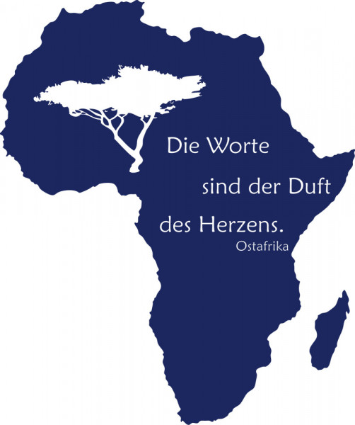 Wandtattoo Kontinent Afrika Die Worte sind der Duft des Herzens