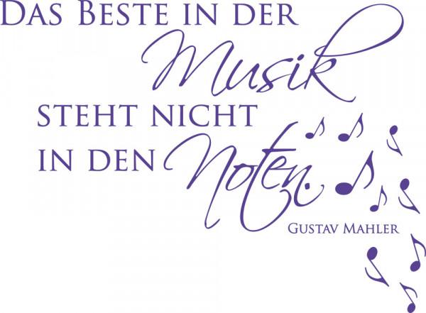 Wandtattoo Musik-Zitat: Das Beste in der Musik.