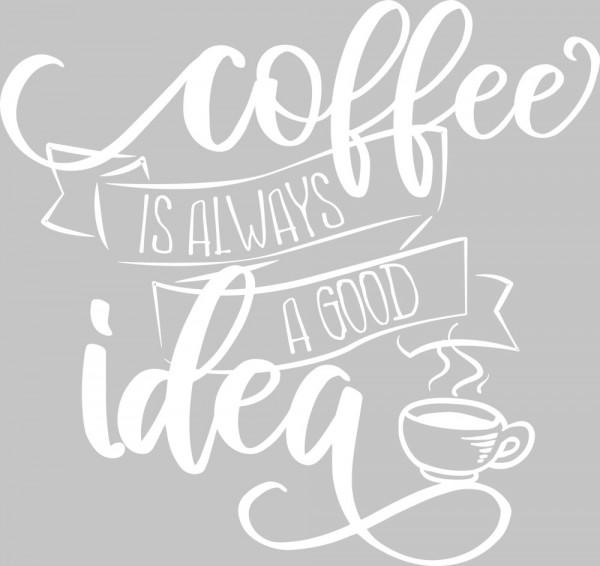 Wandtattoo Küche Kaffee Spruch