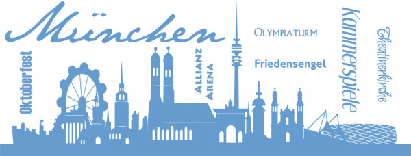 Wandtattoo Skyline München Bayern Oktoberfest Allianz Arena Friedensengel