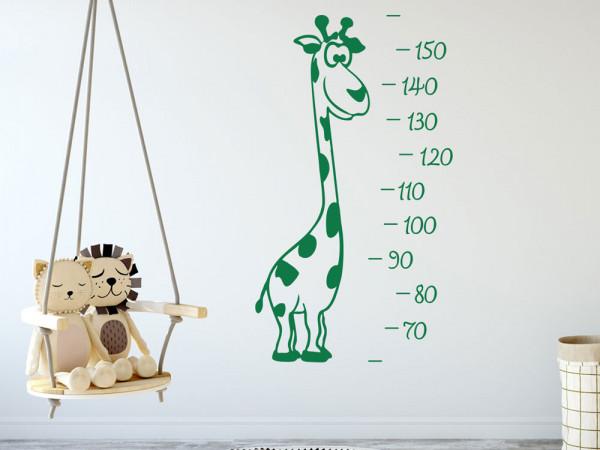 Wandtattoo Giraffen Messlatte