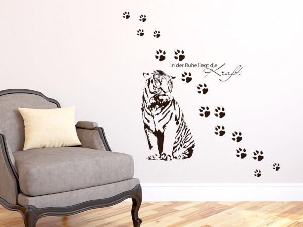 Wandtattoo Wohnzimmer Set In der Ruhe Tiger Tatzen
