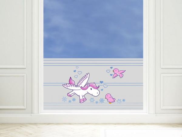Sichtschutzfolie farbig Pegasus Vögel