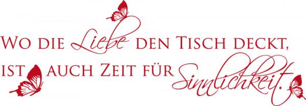 Wandtattoo Küche Wandspruch Wo die Liebe den Tisch deckt...
