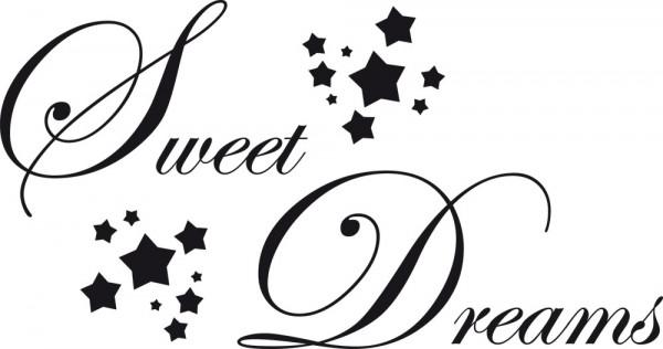 Wandtattoo Schriftzug Sweet Dreams für Schlafzimmer