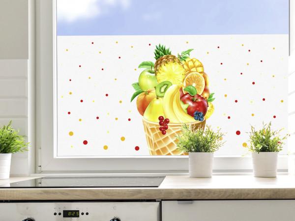 Sichtschutzfolie Küche, Obst und Beeren