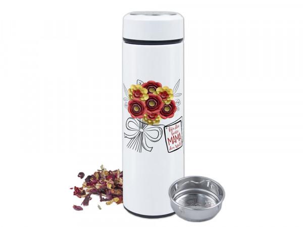 Teeflasche, Blumen für die beste Mama der Welt