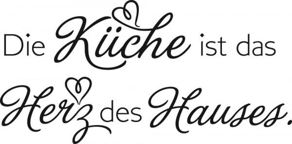 Wandtattoo Spruch Die Küche ist das Herz des Hauses