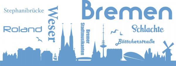 Wandtattoo Wohnzimmer Sticker Skyline Bremen Weser Roland Stadtmusikanten Schla