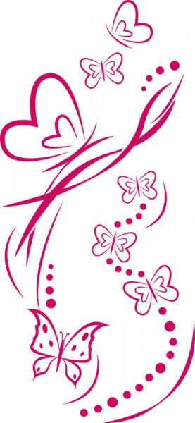 Wandtattoo Schmetterlinge Linien