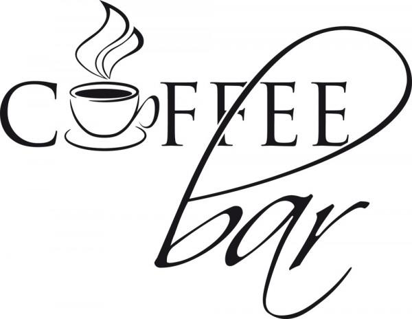 Wandtattoo Schriftzug Coffeebar mit Kaffeetasse