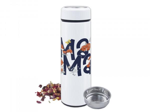 Thermo-Teeflasche mit Siebeinsatz zum Muttertag