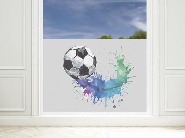 Fensterfolie Kinderzimmer für Jungen, Fußball