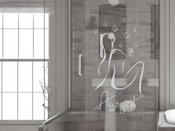 Fensteraufkleber für Duschtür Tropfen Auszeit