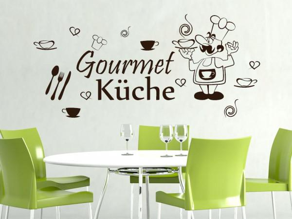 Wandtattoo Aufkleber Wanddeko Set für Küche Gourmet Küche Besteck Tassen
