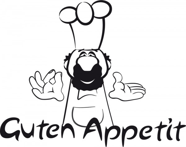 Wandtattoo Küche Guten Appetit mit Koch