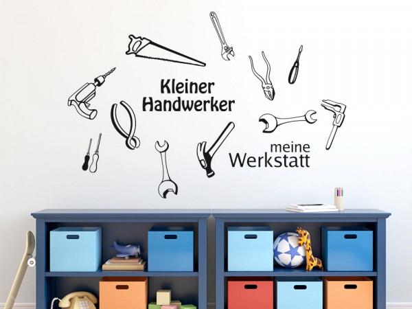 Wandtattoo Set für Kinderzimmer Werkstatt Handwerker