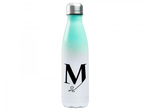 Trinkflasche mit Initiale - Monogramm