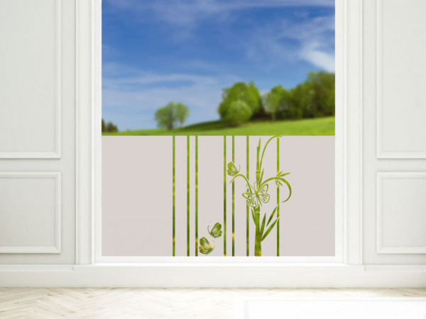 Sichtschutzfolie Duschtür Fensterfolie mit Bambus