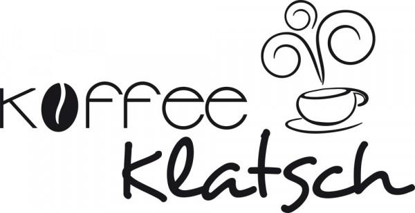 Wandtattoo Schriftzug Kaffeeklatsch für Ihre Küche