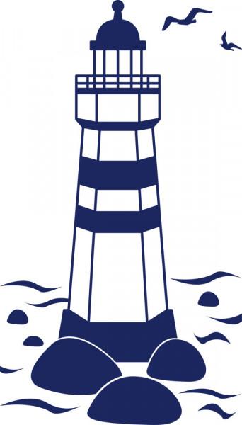 Wandtattoo Leuchtturm - Küste