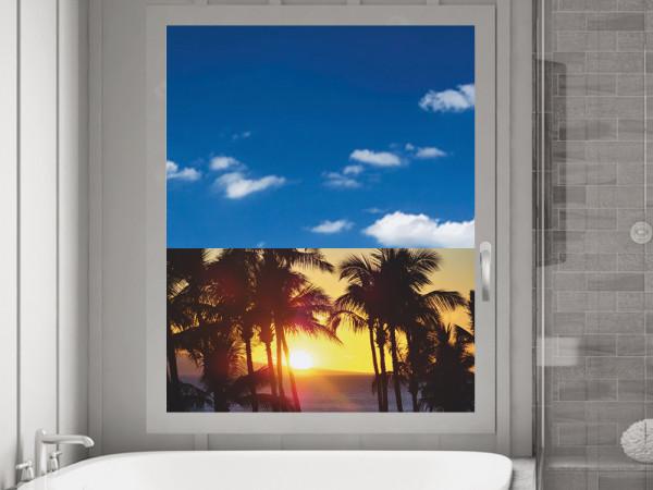 Sichtschutzfolie Palmen im Sonnenuntergang